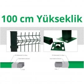 100cm Yeşil 5cm X 5cm X 1cm Çit Profil Demiri