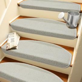 Beyaz Renk Kendinden Yapışkanlı Merdiven Basamak Paspası / Halısı