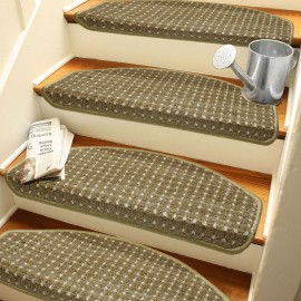 Desenli Kendinden Yapışkanlı Merdiven Basamak Paspası / Halısı
