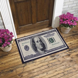 Dolar Baskılı Kauçuk Kapı Önü Paspası