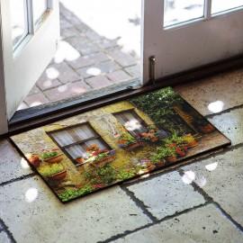 Eski Ev Baskılı Kauçuk Kapı Önü Paspası