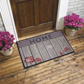 Home Yazılı Ahşap Görünümlü Kauçuk Kapı Önü Paspası