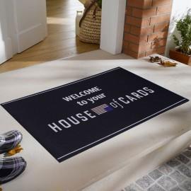 House Of Cards Baskılı Kauçuk Kapı Önü Paspası