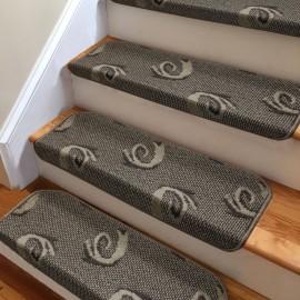 Kahverengi Kendinden Yapışkanlı Merdiven Basamak Paspası / Halısı