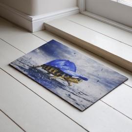Kaplumbağa Baskılı Kauçuk Kapı Önü Paspası
