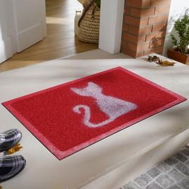Kedi Desenli Kıvırcık Kapı Önü Paspası
