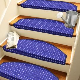 Lacivert Kendinden Yapışkanlı Merdiven Basamak Paspası / Halısı