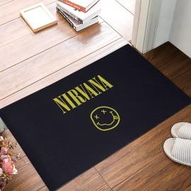 Nirvana Baskılı Kauçuk Kapı Önü Paspası