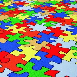 Confetti Puzzle 01 MaviÇocuk Odası Halısı