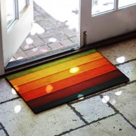 Renkli Desenli Kauçuk Kapı Önü Paspası