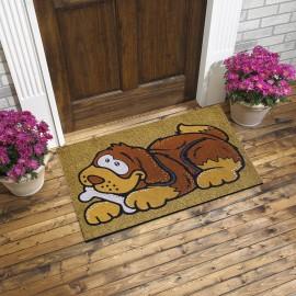 Sevimli Köpek Desenli Kauçuk Kapı Önü Paspası