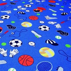 Confetti Sports Club 01 MaviÇocuk Odası Halısı