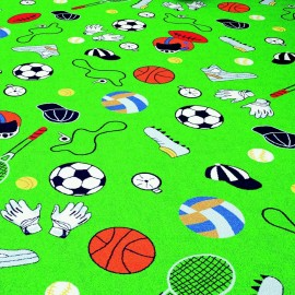 Confetti Sports Club 02 YesilÇocuk Odası Halısı