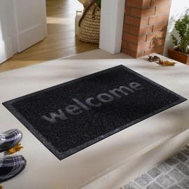 Welcome Baskılı Kıvırcık Kapı Önü Paspası