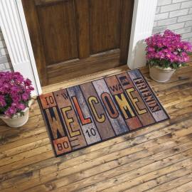 Welcome Yazı Baskılı Kauçuk Kapı Önü Paspası