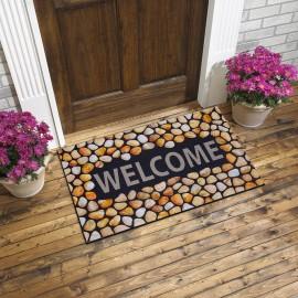 Welcome Yazılı Desenli Kauçuk Kapı Önü Paspası