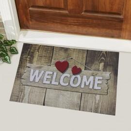Welcome Yazılı Kauçuk Kapı Önü Paspası